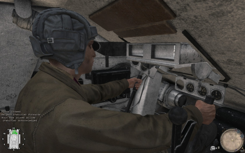 Tank interior is fully modeled
