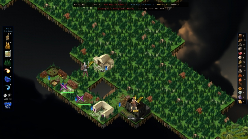 A bandit fortress appearing next to a city is one of the harsher ways for the game to show it doesn't like you...