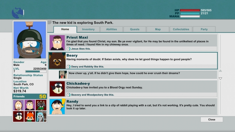 Facebook. They use it in South Park too.