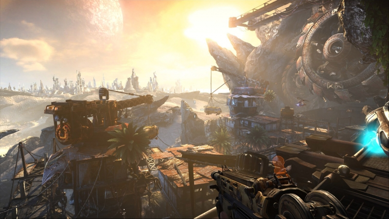 UE3 provides beautiful vistas in Bulletstorm