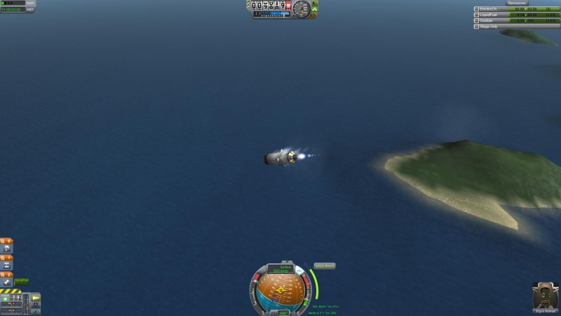 Yes, I know that's not the direction the rocket is supposed to go.