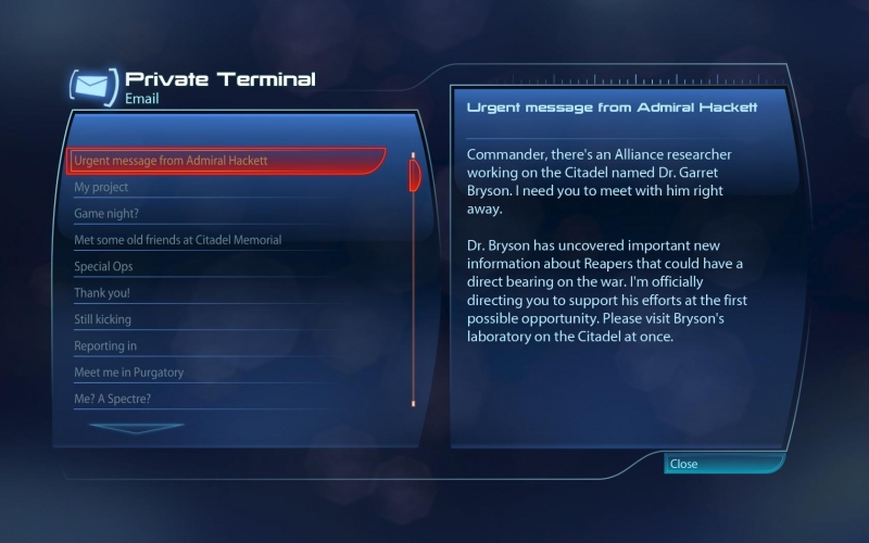 As per usual in the Mass Effect universe, it starts with an email