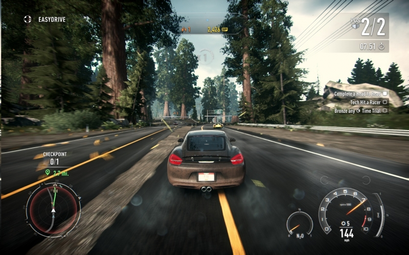 Need for Speed Rivals has a great sense of speed.