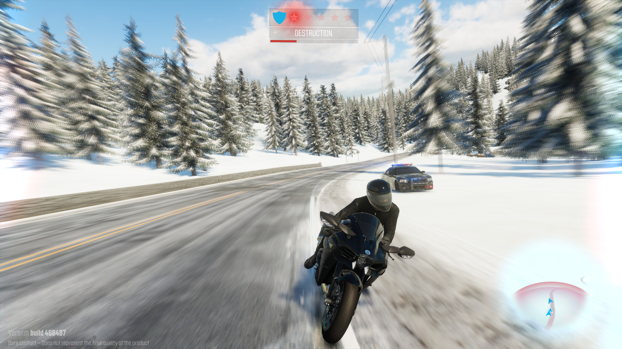 Because the best vehicle for a snowy road is a two-wheel superbike.