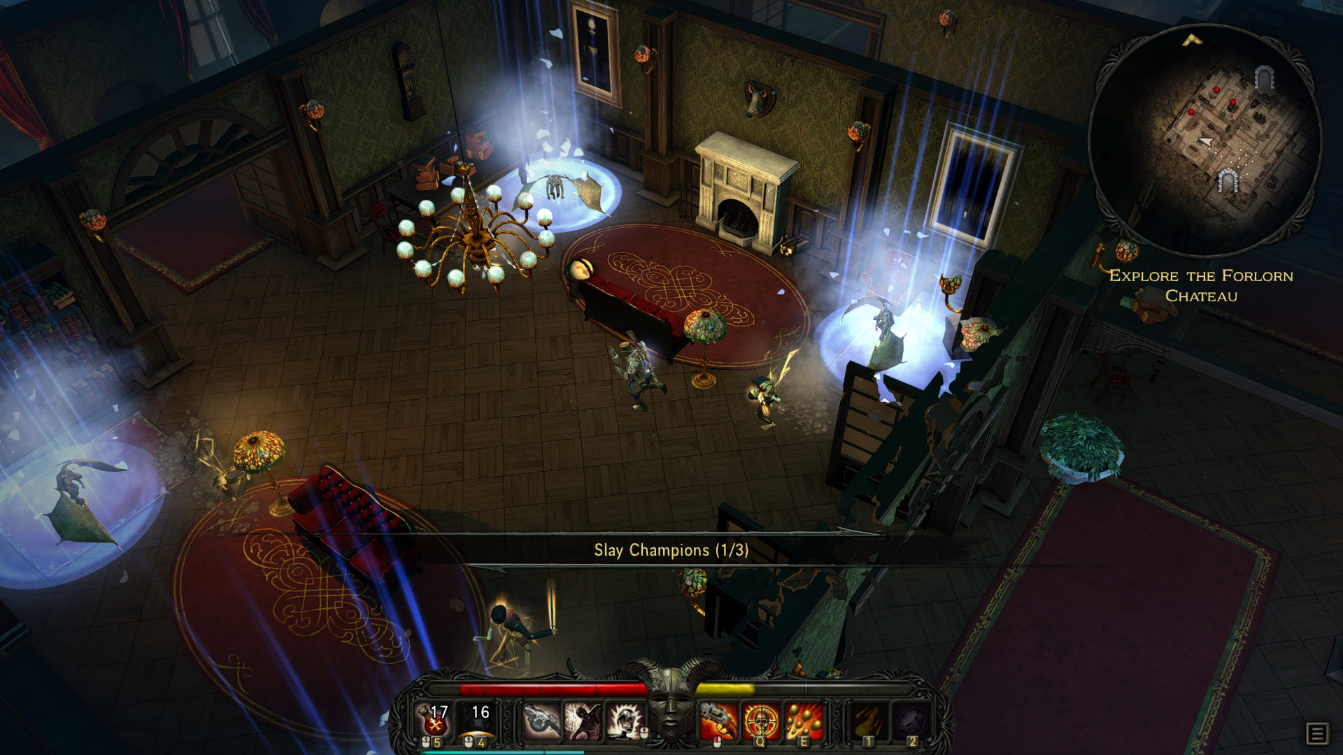 Once you trash the undead you can trash the furnishings too. It's really quite therapeutic.